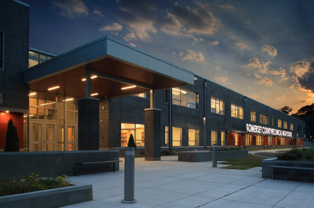 Photo of the J M Tawes Career and Technical Education Center in Somerset, County Architect: Becker Morgan Group, Inc. Photographer: Matt Wargo
