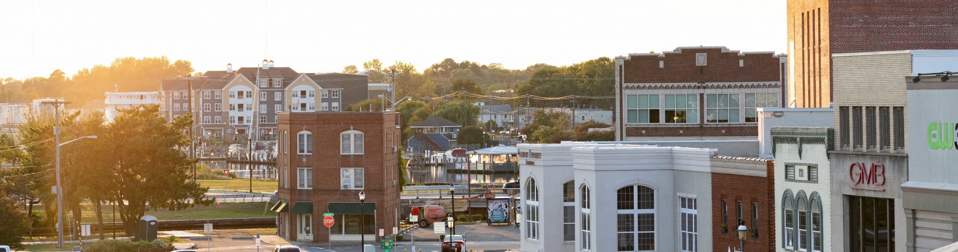 A Sunset Photo of Downtown Salisbury MD
