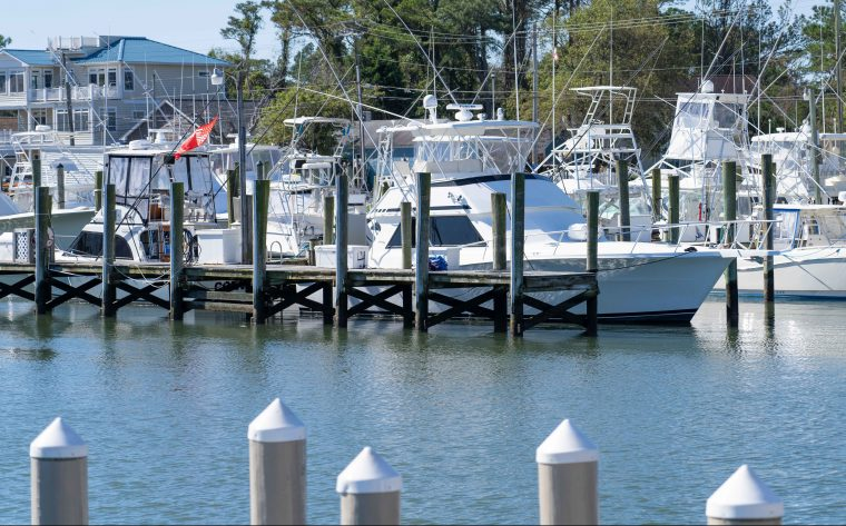 A photo of the Marina in Ocean City, MD