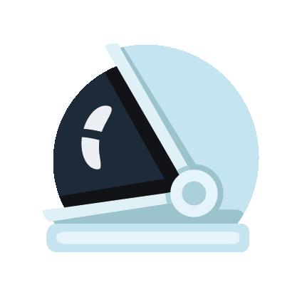 An icon of an astronaut helmet