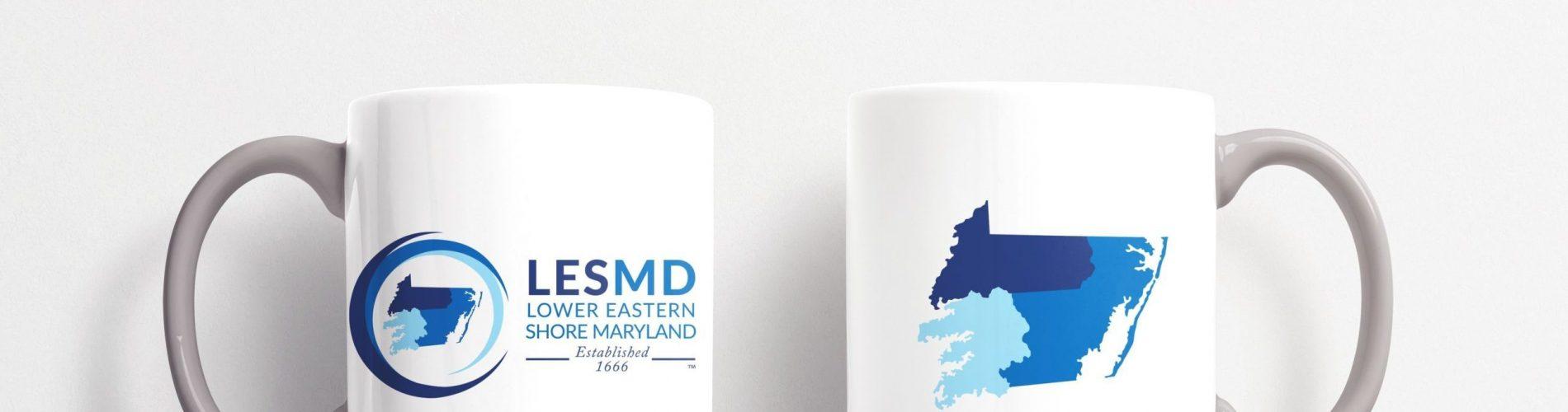 Mug Mock Up with LESMD logo on the front