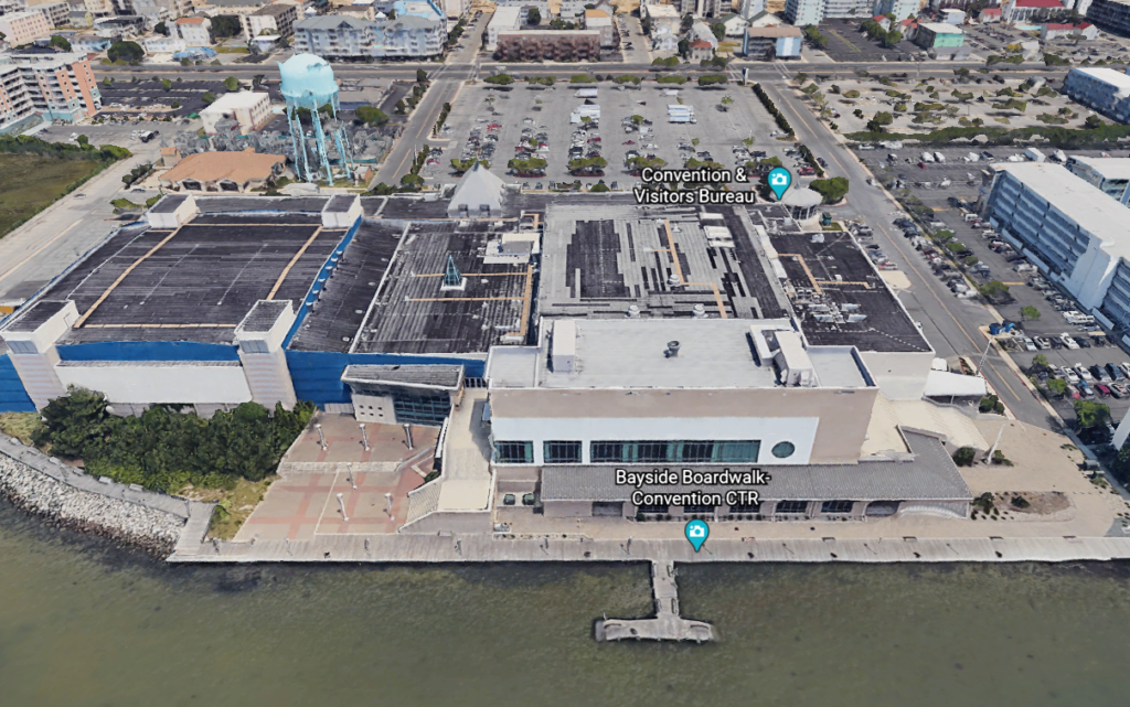 An overhead view of the Ocean City Convention Center