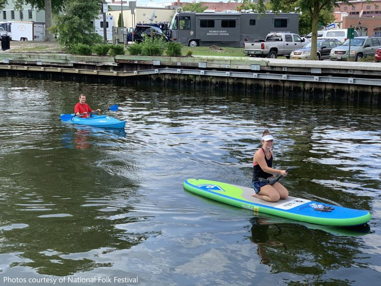Photo of two individuals kayaking in Wicomico County