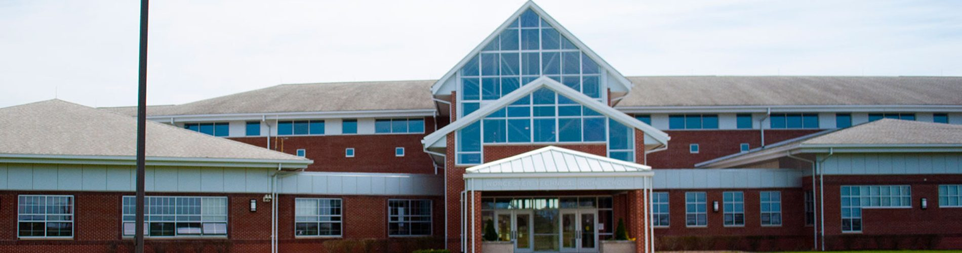 A photo of Worcester Technical High School in Worcester County, MD
