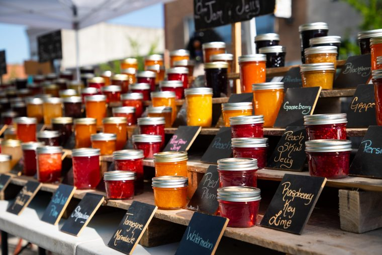 jams at farmers market